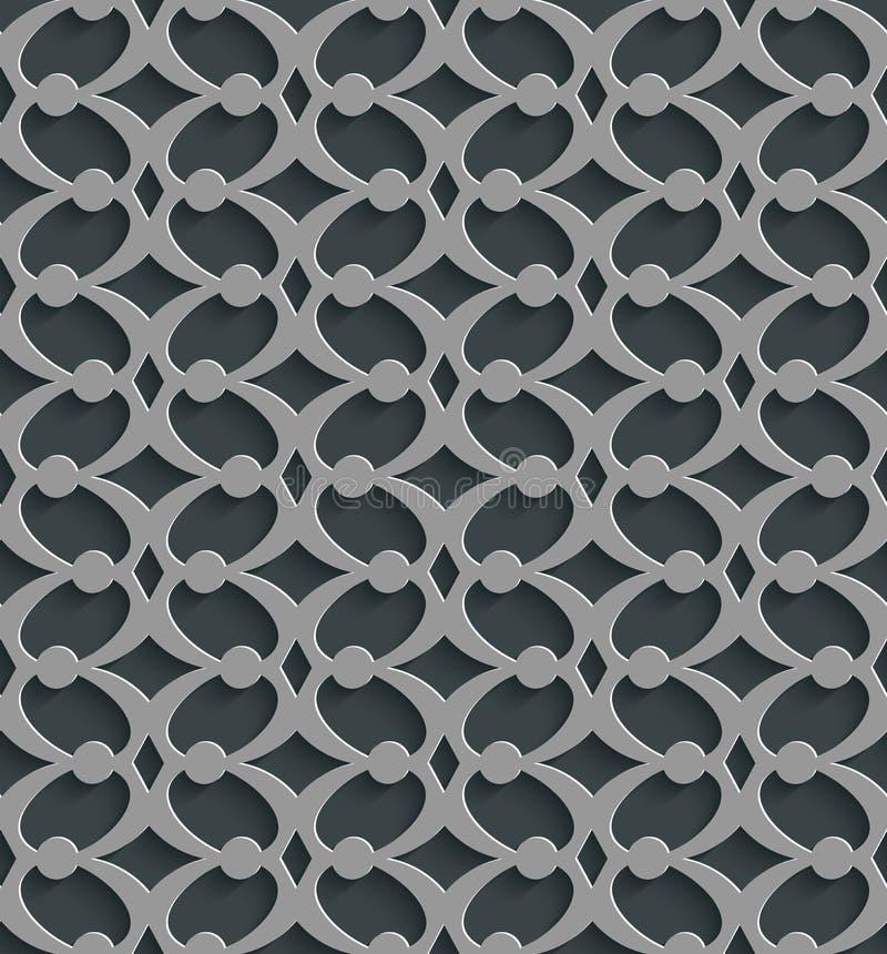 Geometrische 3d Naadloze Patroonachtergrond stock illustratie