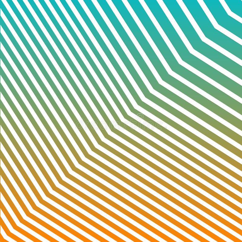 Geometrische de Gradiëntachtergrond van de zigzaglijn Moderne Abstracte Patrooneps10 Vector royalty-vrije illustratie