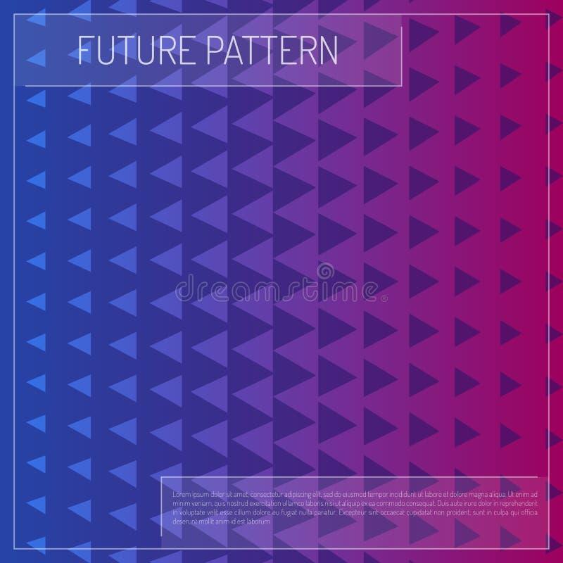 Geometrische de kleurenachtergrond van driehoekensterren De toekomstige textuurvector gebruikte voor Webontwerp, behang en drukte royalty-vrije illustratie