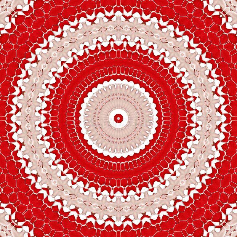Geometrische de textuursamenvatting van de patroontegel achtergrond stock illustratie
