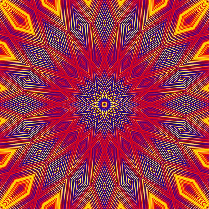 Geometrische de textuursamenvatting van de patroontegel Decorillustratie stock illustratie