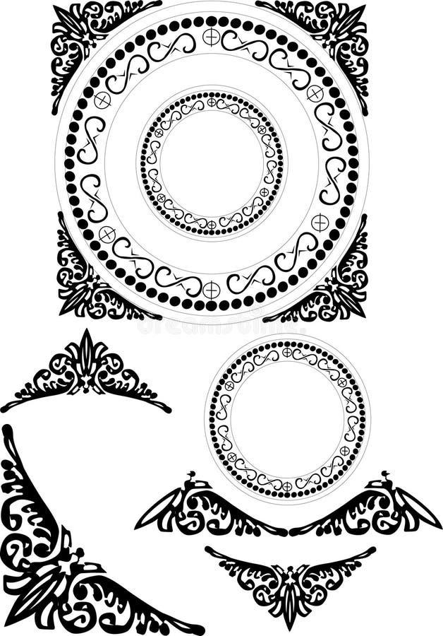 Geometrische dekorative Elemente stock abbildung