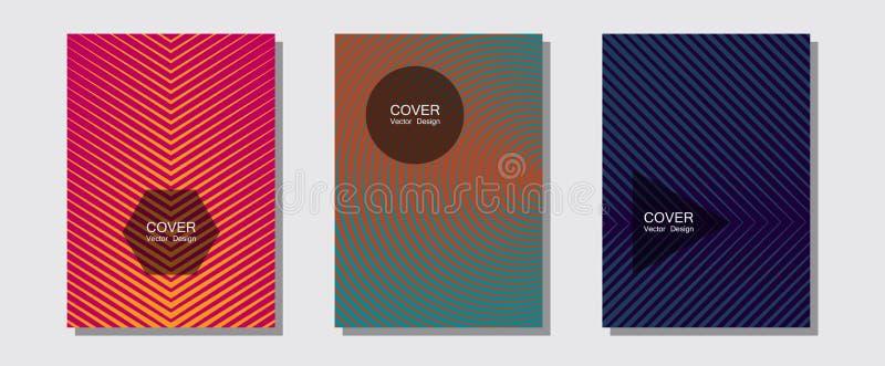 Geometrische Designvorlagen für Banner, Cover lizenzfreie stockfotografie