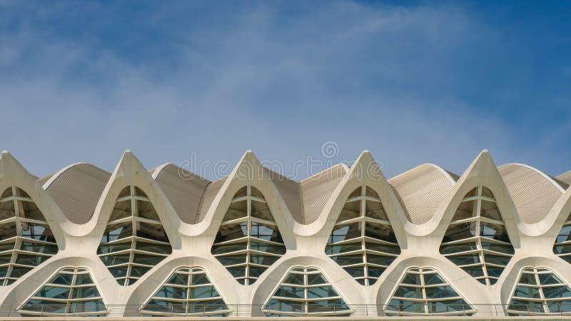 Geometrische die vormen door moderne architectuur worden gevormd stock foto