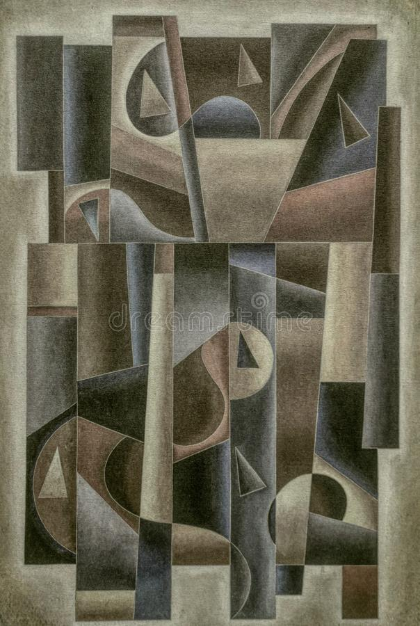 Geometrische Digital Art Vintage stock abbildung