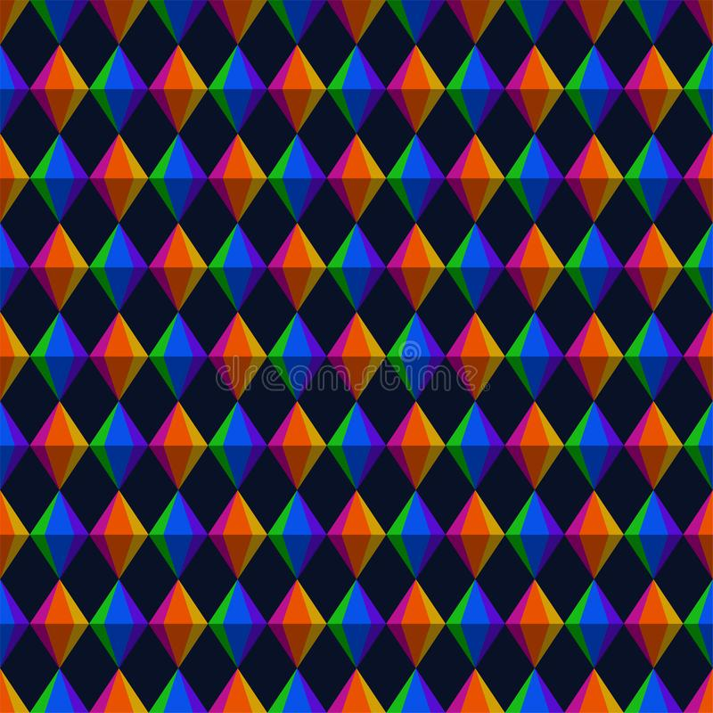 Geometrische Dreiecke Festa Junina und Diamant-nahtloses Muster stock abbildung