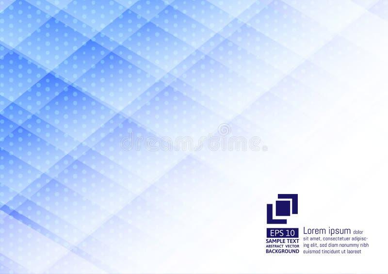 Geometrische elementen blauwe kleur met punten abstract modern ontwerp als achtergrond vector illustratie