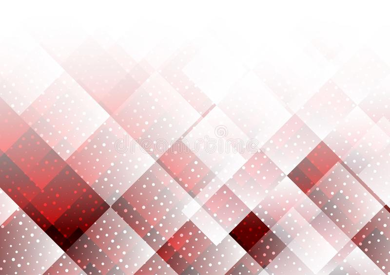 Geometrische elementen rode kleur met punten abstracte vectorachtergrond royalty-vrije illustratie