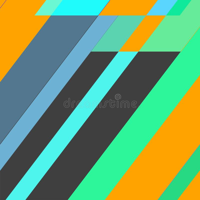 Geometrische elementenachtergrond Moderne abstracte ontwerpaffiche, royalty-vrije stock foto