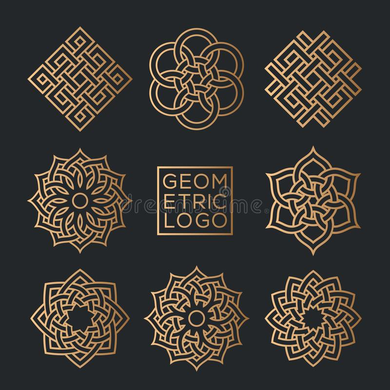 Geometrische Emblemdesignschablonen vektor abbildung