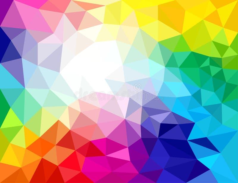 Geometrische Farbabstrakte Hintergründe stock abbildung