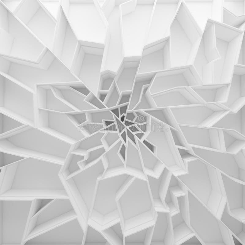 Geometrische Farbzusammenfassungs-Polygontapete lizenzfreie abbildung