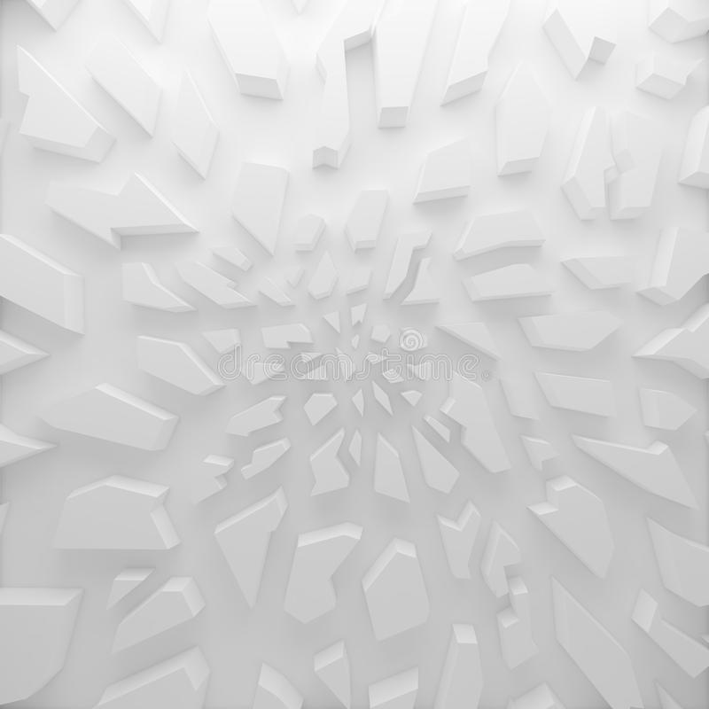 Geometrische Farbzusammenfassungspolygone, als Sprungswand lizenzfreie abbildung