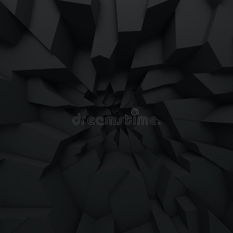 Geometrische Farbzusammenfassungspolygone, als Sprungswand Innenraum 12 stock abbildung