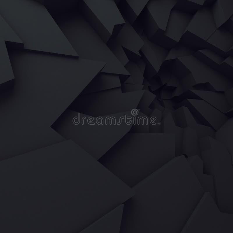Geometrische Farbzusammenfassungspolygone, als Sprungswand Innenraum 12 vektor abbildung