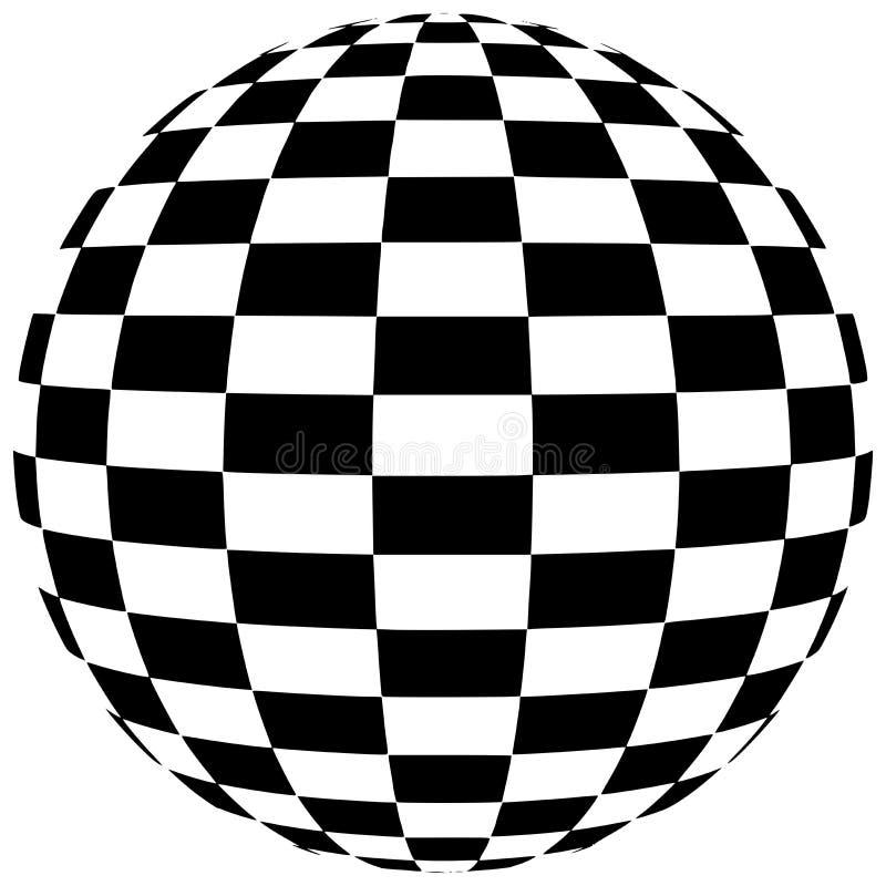 Geometrische Form des abstrakten karierten Schwarzweiss-Bereichs vektor abbildung