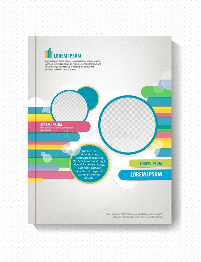 Geometrische Formen der Broschüre, Linien und Kreise, Geschäftshintergrund lizenzfreie abbildung