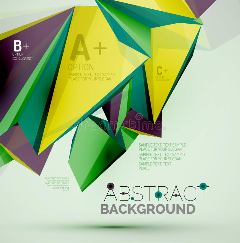 geometrische formen in der luft 3 d vektor abbildung illustration von gesch ft digital 57262515. Black Bedroom Furniture Sets. Home Design Ideas