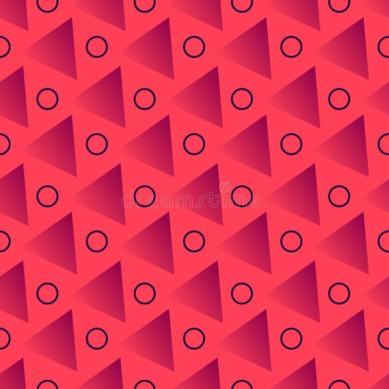 Geometrische Formen des bunten Zusammenfassungshintergrundes in der modischen Art auf weichem weißem Hintergrund Abstraktes Muste vektor abbildung