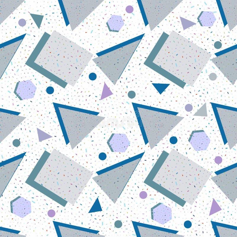Geometrische Formen des nahtlosen Hintergrundes vektor abbildung