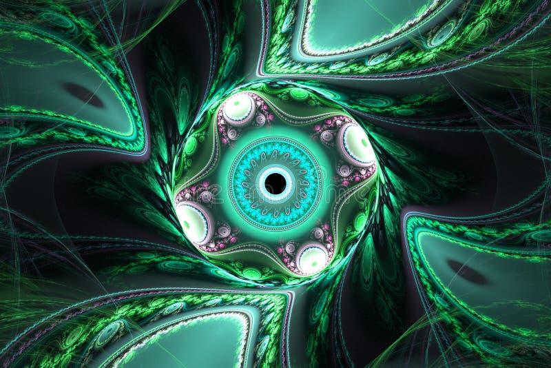 Geometrische fractal illustratie royalty-vrije illustratie