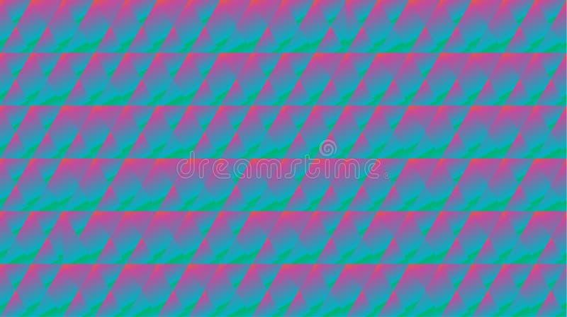 Geometrische Fractalfolienmusterhippie-Art vektor abbildung