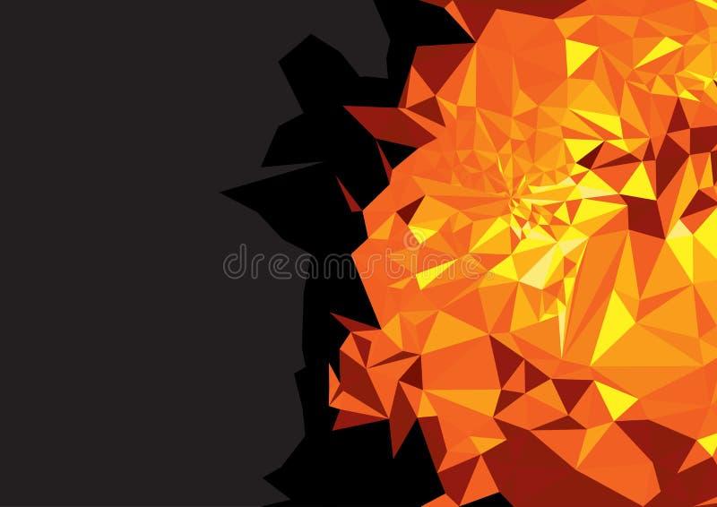 Geometrische gele rode heldere achtergrond royalty-vrije stock afbeelding
