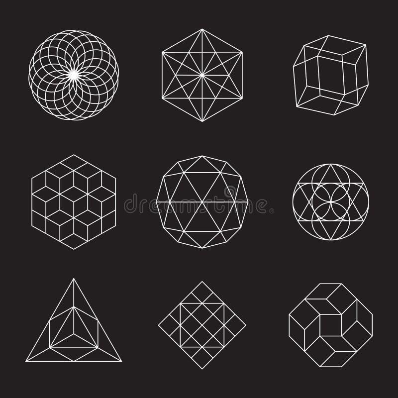 Geometrische geplaatste vormen vector illustratie
