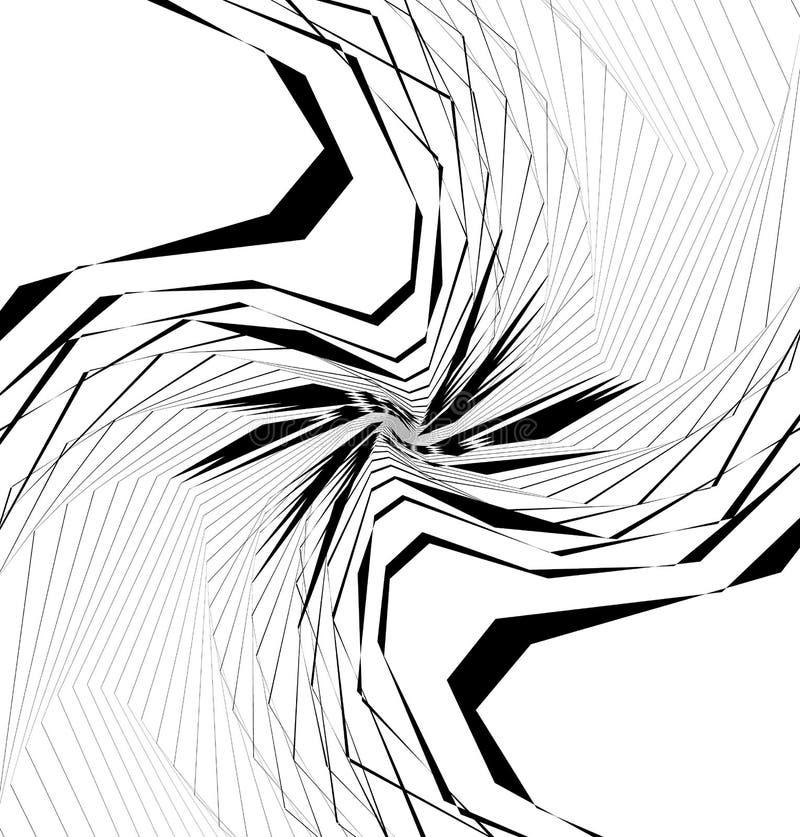 Geometrische gespannen vorm, patroon Ruwe, gespannen geometrische geweven Gr stock illustratie
