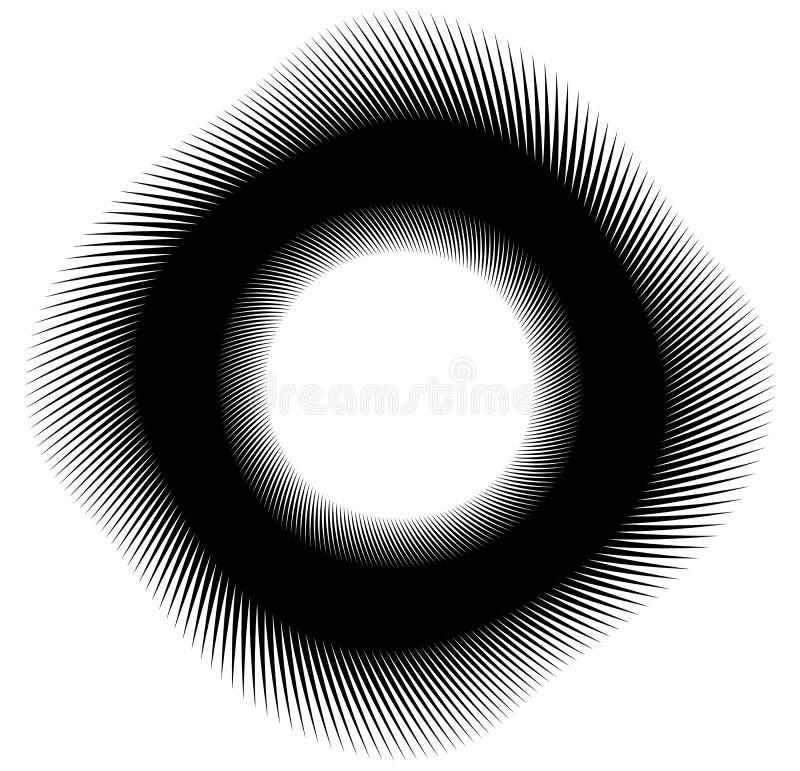 Geometrische gewundene Element-Reihe Abstrakter Strudel, Rotationsgraphiken stock abbildung