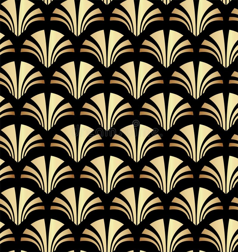 Geometrische Gouden Gatsby Art Deco Pattern Background Design vector illustratie