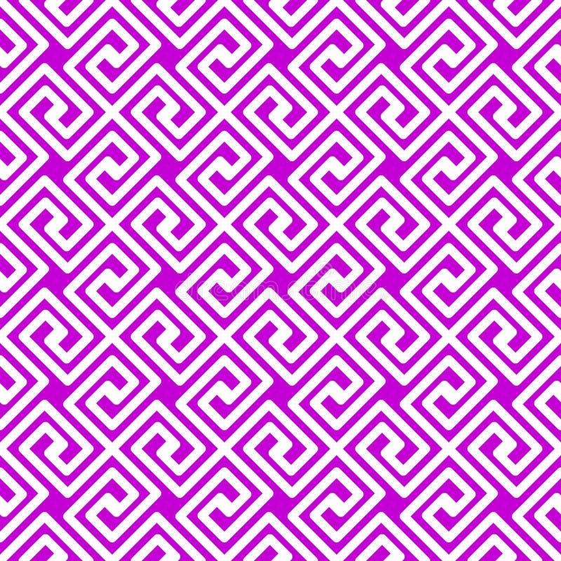 Geometrische Griekse Vierkanten Naadloze Textuur stock illustratie