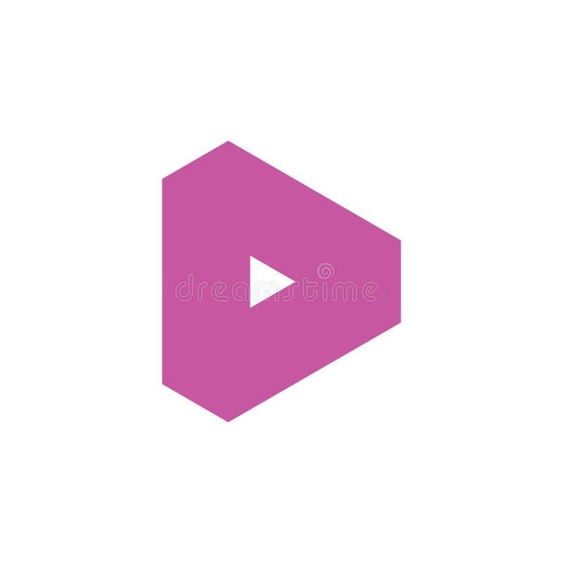 Geometrische het embleemvector van de brievend eenvoudige driehoek royalty-vrije illustratie