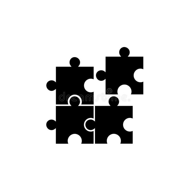 Geometrische het embleemvector van de raadsel vierkante beweging stock illustratie