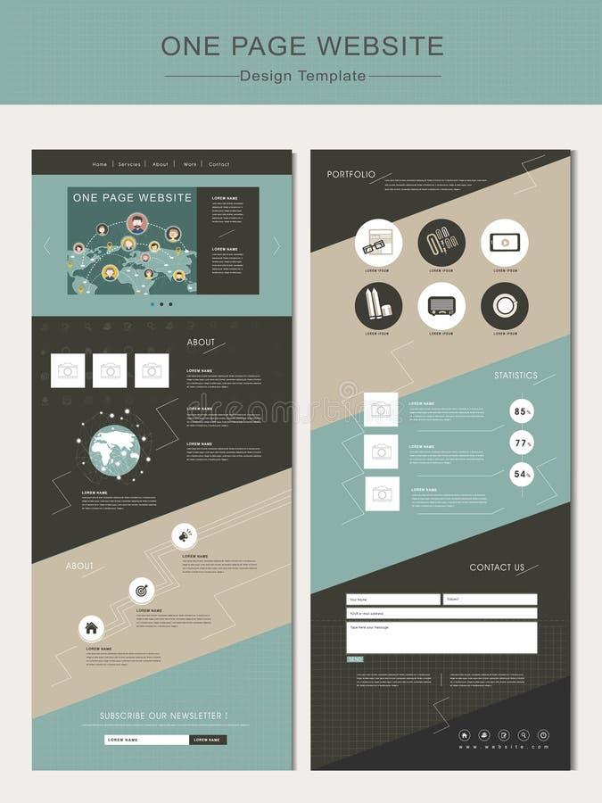 Geometrische het ontwerpmalplaatje van de paginawebsite stock illustratie