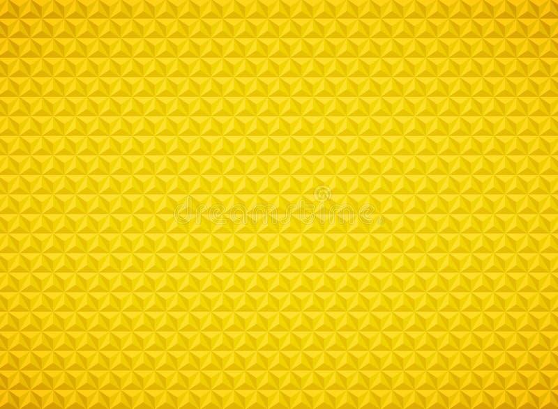 Geometrische het patroon gouden achtergrond van de luxedriehoek Illustratie vectoreps10 royalty-vrije illustratie
