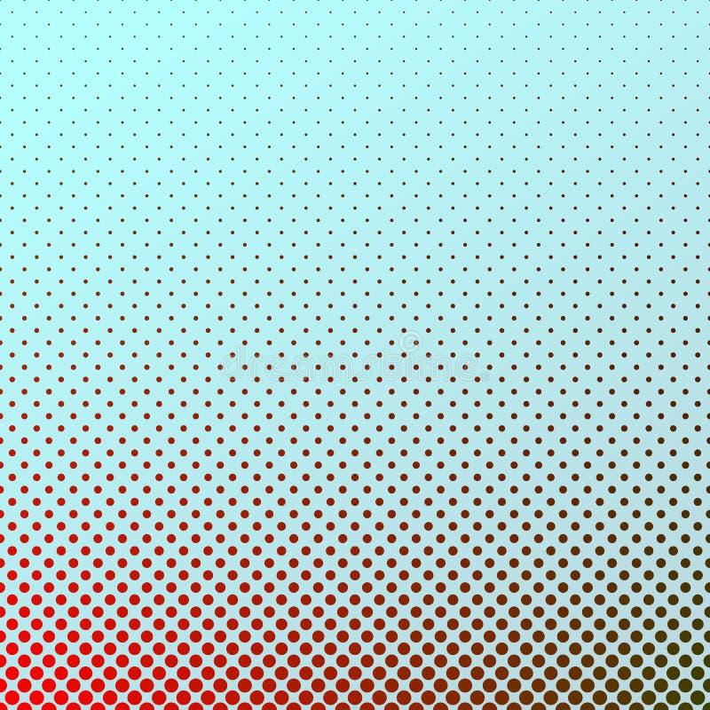 Geometrische het patroonachtergrond van de gradiënt halftone cirkel - grafisch ontwerp stock illustratie