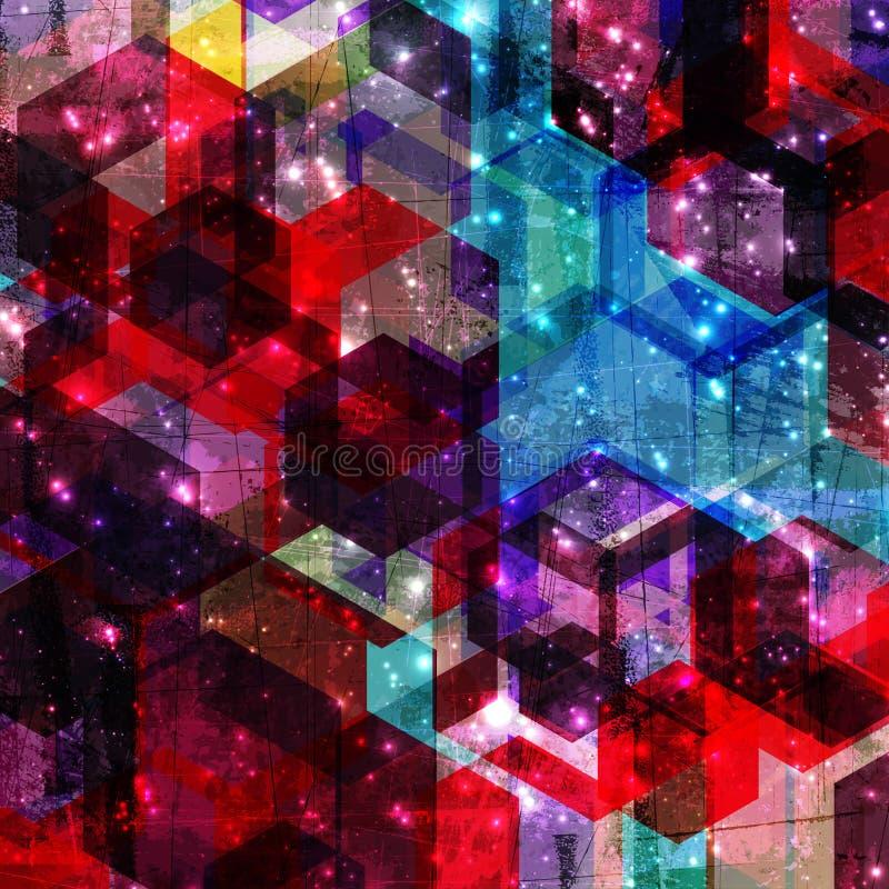 Geometrische Hintergrundillustration der abstrakten Schmutzart stock abbildung