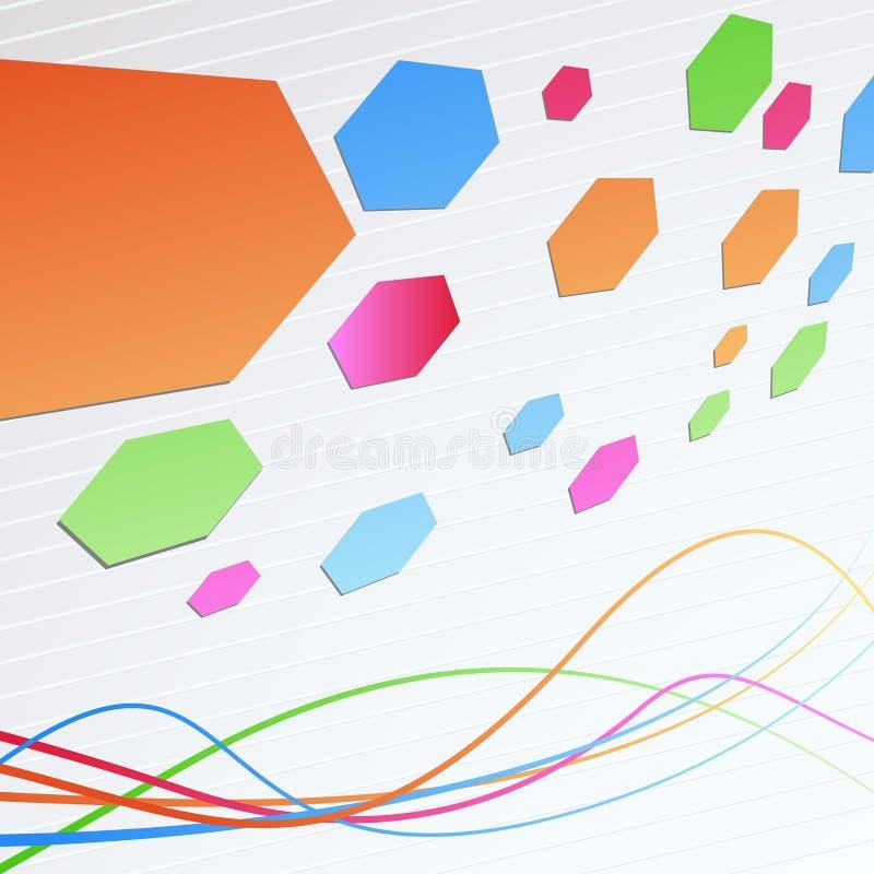 Geometrische Hintergrundschablone der hellen Perspektive stock abbildung