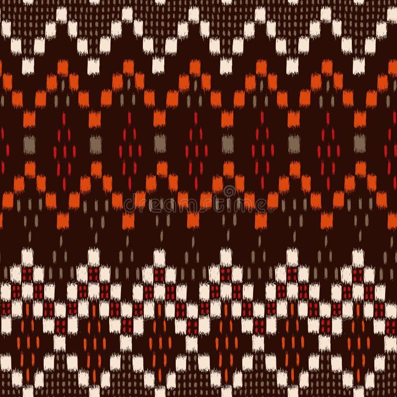 Geometrische Ikat royalty-vrije illustratie