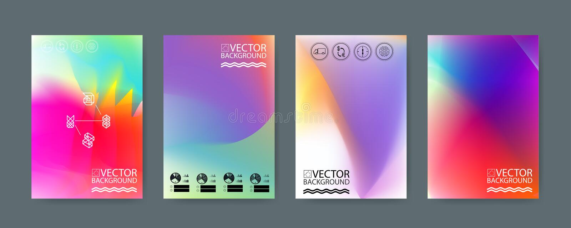 Geometrische in illustratieachtergrond, aanplakbiljet, vlakke en 3d het ontwerpelementen van de hologram geometrische stijl Retro stock illustratie