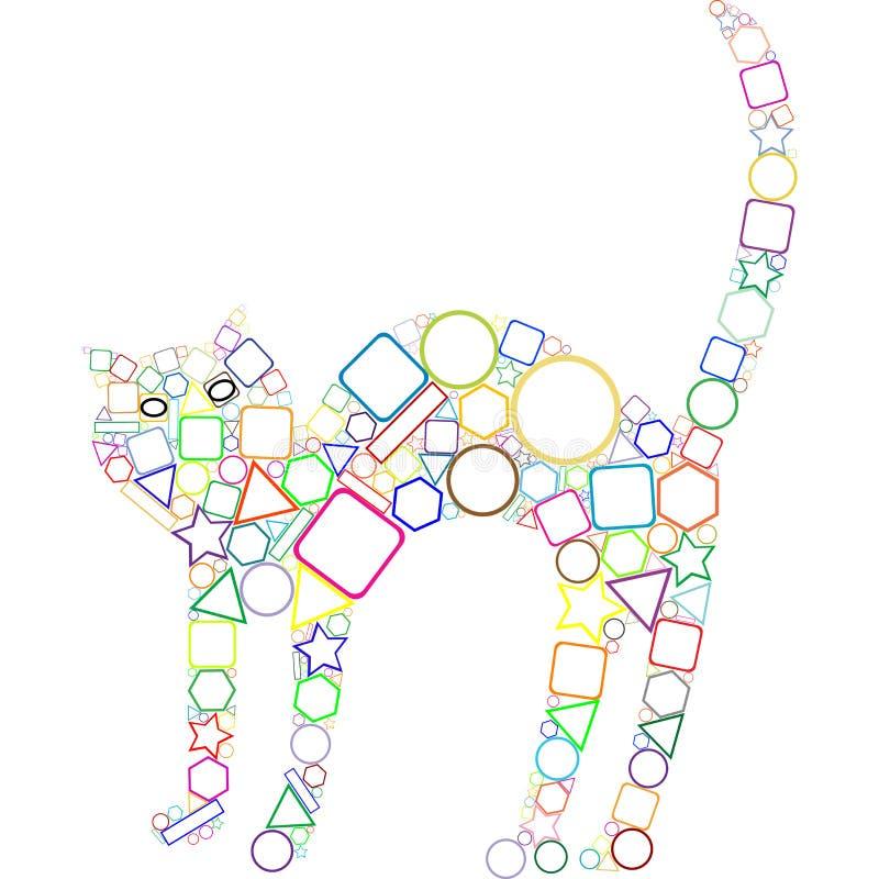 Geometrische Katze lizenzfreie abbildung