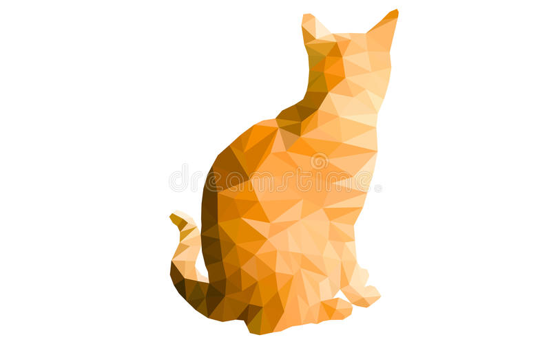 Geometrische Katze stockbilder
