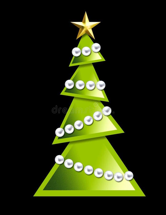 Geometrische kerstboom - royalty-vrije illustratie