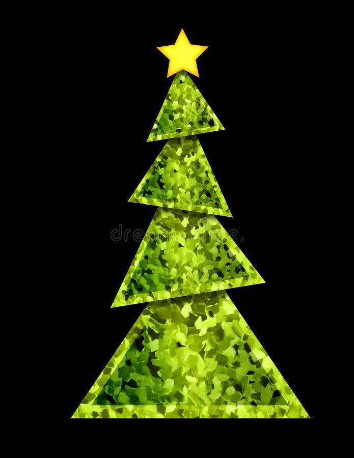 Geometrische kerstboom - vector illustratie
