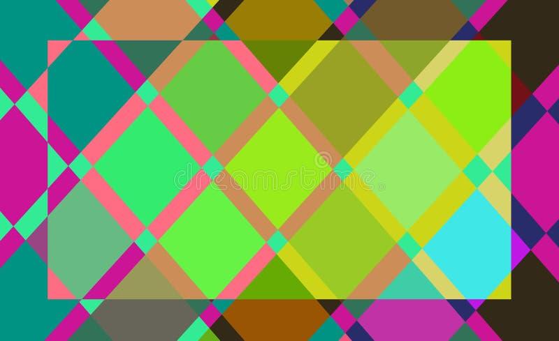 Geometrische kleuren abstracte achtergrond stock illustratie