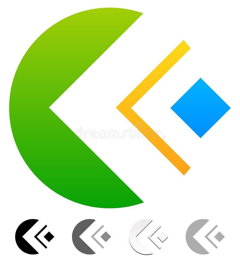 Geometrische kleurrijke samenvatting - generisch embleemmalplaatje Verschillend g vector illustratie