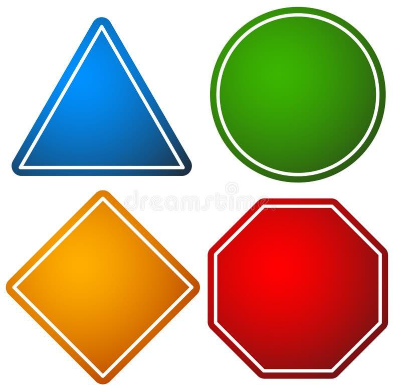 Geometrische Kreiselemente, abstrakter gelegentlicher Kreis formt stock abbildung