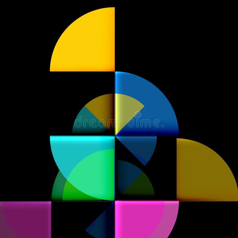 Geometrische Kreiszusammenfassungsfahne lizenzfreie abbildung