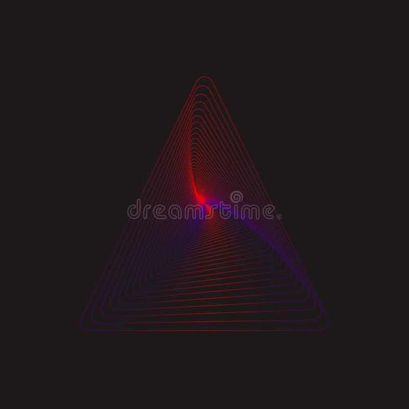 Geometrische Lijnen van Driehoek royalty-vrije illustratie